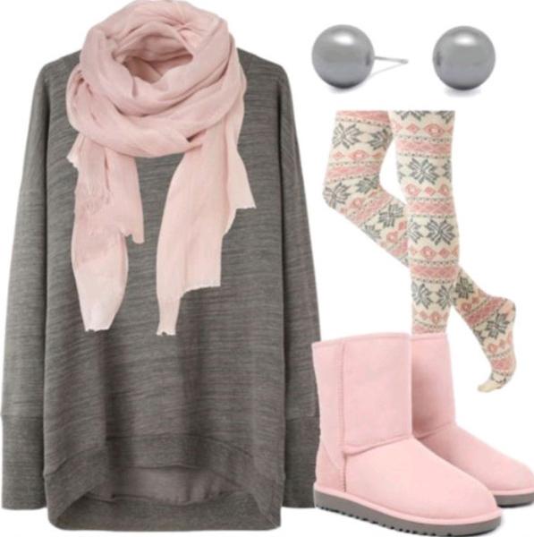 pink-light-leggings-print-fairisle-grayd-sweater-pink-shoe-boots-uggs-pink-light-scarf-pearl-studs-fall-winter-weekend.jpg