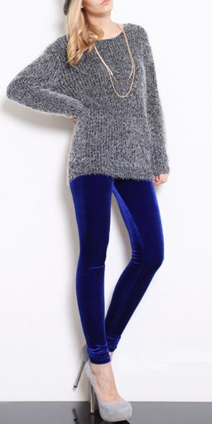 blue-navy-leggings-grayl-sweater-tunic-gray-shoe-pumps-necklace-fuzzy-velvet-fall-winter-blonde-lunch.jpg