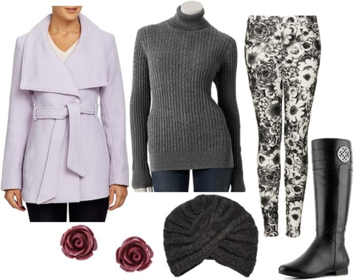 white-leggings-grayd-sweater-turtleneck-print-purple-light-jacket-coat-studs-beanie-black-shoe-boots-lavender-howtowear-fashion-style-fall-winter-outfit-weekend.jpg