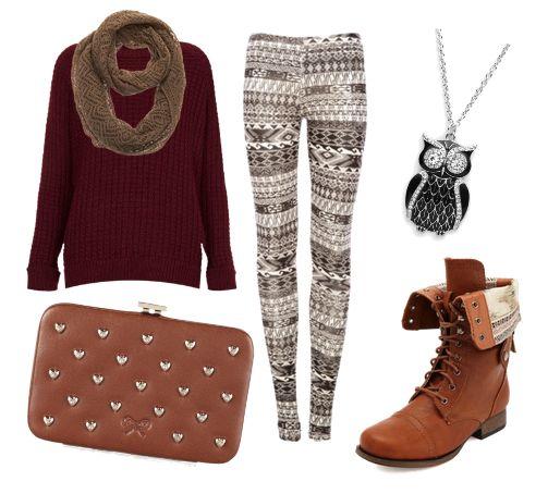 white-leggings-zprint-r-burgundy-sweater-cognac-shoe-booties-necklace-pend-wear-outfit-fashion-fall-winter-tan-scarf-weekend.jpg