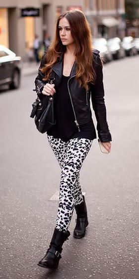 white-leggings-print-black-tee-black-shoe-booties-black-jacket-moto-fall-winter-hairr-weekend.jpg
