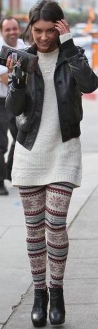 white-leggings-zprint-white-sweater-black-jacket-bomber-tunic-bun-wear-style-fashion-fall-winter-black-shoe-booties-fairisle-brun-lunch.jpg