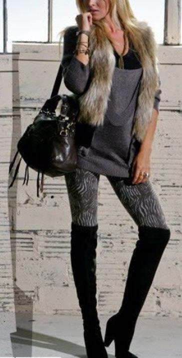 grayd-leggings-grayl-sweater-tan-vest-fur-fuzz-black-shoe-boots-otk-fall-winter-blonde-lunch.jpg