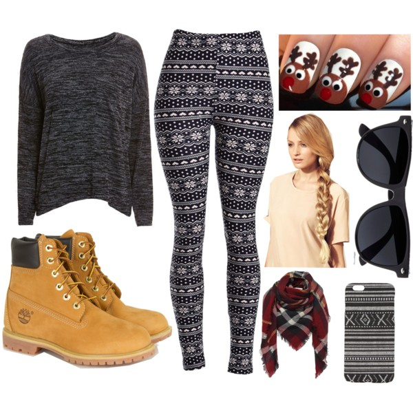 grayd-leggings-zprint-grayd-sweater-tan-shoe-booties-timberland-red-scarf-plaid-fairisle-braid-nail-sun-blonde-weekend.jpg