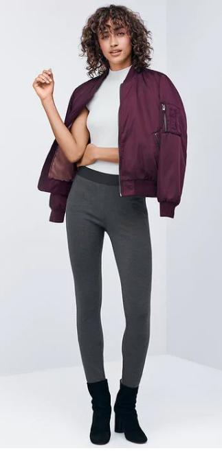 grayd-leggings-white-sweater-purple-royal-jacket-bomber-black-shoe-booties-howtowear-fall-winter-brun-weekend.jpg