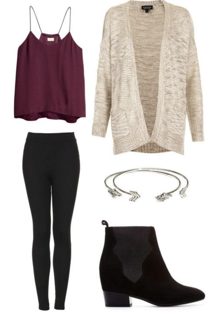 black-leggings-burgundy-cami-wear-style-fashion-fall-winter-black-shoe-booties-white-cardiganl-bracelet-lunch.jpg