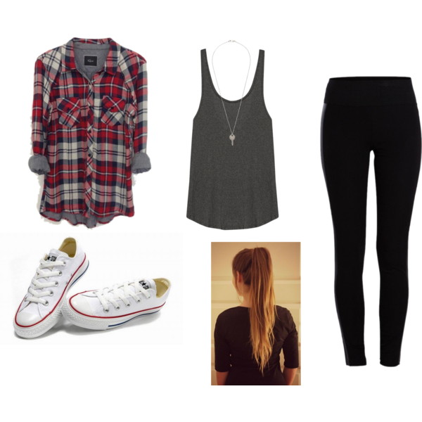 black-leggings-grayd-top-tank-red-plaid-shirt-white-shoe-sneakers-pony-howtowear-fashion-style-outfit-spring-summer-hairr-weekend.jpg