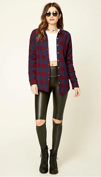 black-leggings-white-tee-crop-burgundy-plaid-shirt-choker-sun-wear-outfit-fashion-fall-winter-black-shoe-booties-hairr-lunch.jpg