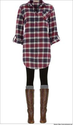 black-leggings-red-plaid-shirt-socks-wear-outfit-fashion-fall-winter-brown-shoe-boots-weekend.jpg