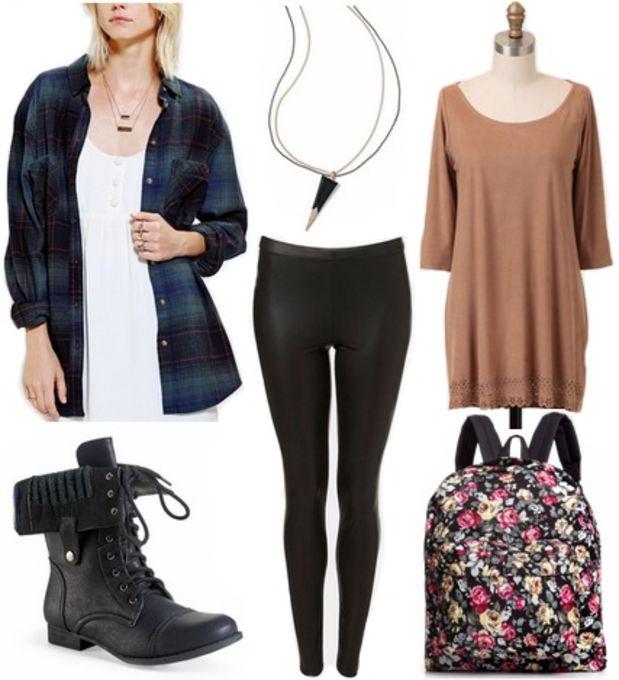 o-tan-dress-black-leggings-pants-blue-navy-plaid-shirt-black-shoe-booties-necklace-pend-black-bag-pack-tshirt-wear-style-fashion-fall-winter-tunic-weekend.jpg