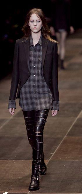 black-leggings-grayd-plaid-shirt-black-jacket-blazer-black-shoe-booties-wear-fall-winter-hairr-plaid-runway-lunch.jpg