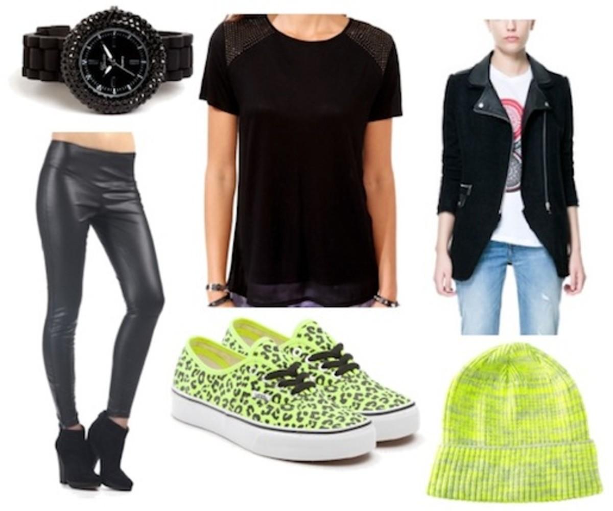 black-leggings-black-tee-beanie-yellow-shoe-sneakers-watch-black-jacket-moto-fall-winter-weekend.jpg