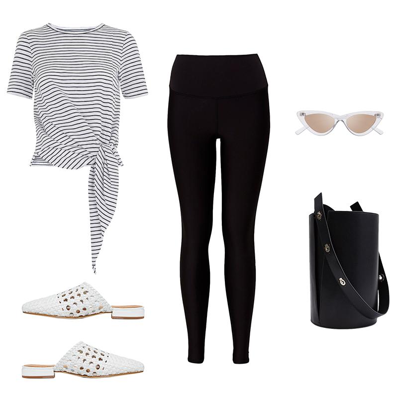 black-leggings-black-tee-stripe-sun-black-bag-white-shoe-flats-slides-spring-summer-weekend.jpg