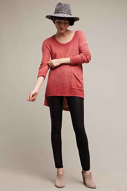 black-leggings-orange-tee-tunic-wear-outfit-fashion-fall-winter-tan-shoe-booties-hat-brun-weekend.jpg