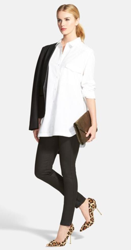 black-leggings-white-collared-shirt-black-jacket-pony-wear-style-fashion-fall-winter-tan-shoe-pumps-tunic-leopard-blonde-work.jpg