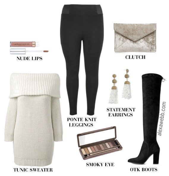 black-leggings-white-sweater-offshoulder-tunic-black-shoe-boots-white-earrings-tan-bag-clutch-fall-winter-holiday-christmas-outfits-dinner.jpg