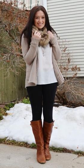 black-leggings-tan-cardigan-cognac-shoe-boots-brun-fall-winter-weekend.jpg