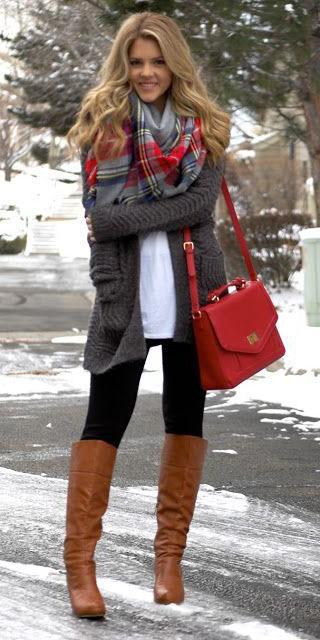 black-leggings-red-scarf-plaid-red-bag-cognac-shoe-boots-grayd-cardiganl-fall-winter-blonde-weekend.jpg