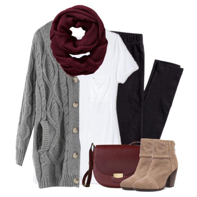 black-leggings-white-tee-grayl-cardiganl-tan-shoe-booties-burgundy-bag-burgundy-scarf-howtowear-fall-winter-weekend.jpg
