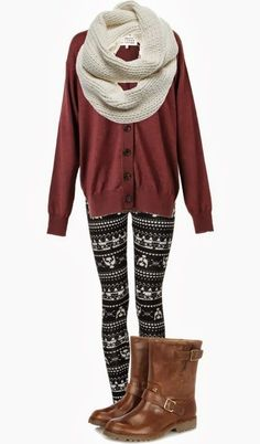 black-leggings-zprint-orange-cardiganl-white-scarf-cognac-shoe-booties-fairisle-wear-outfit-fashion-fall-winter-weekend.jpg