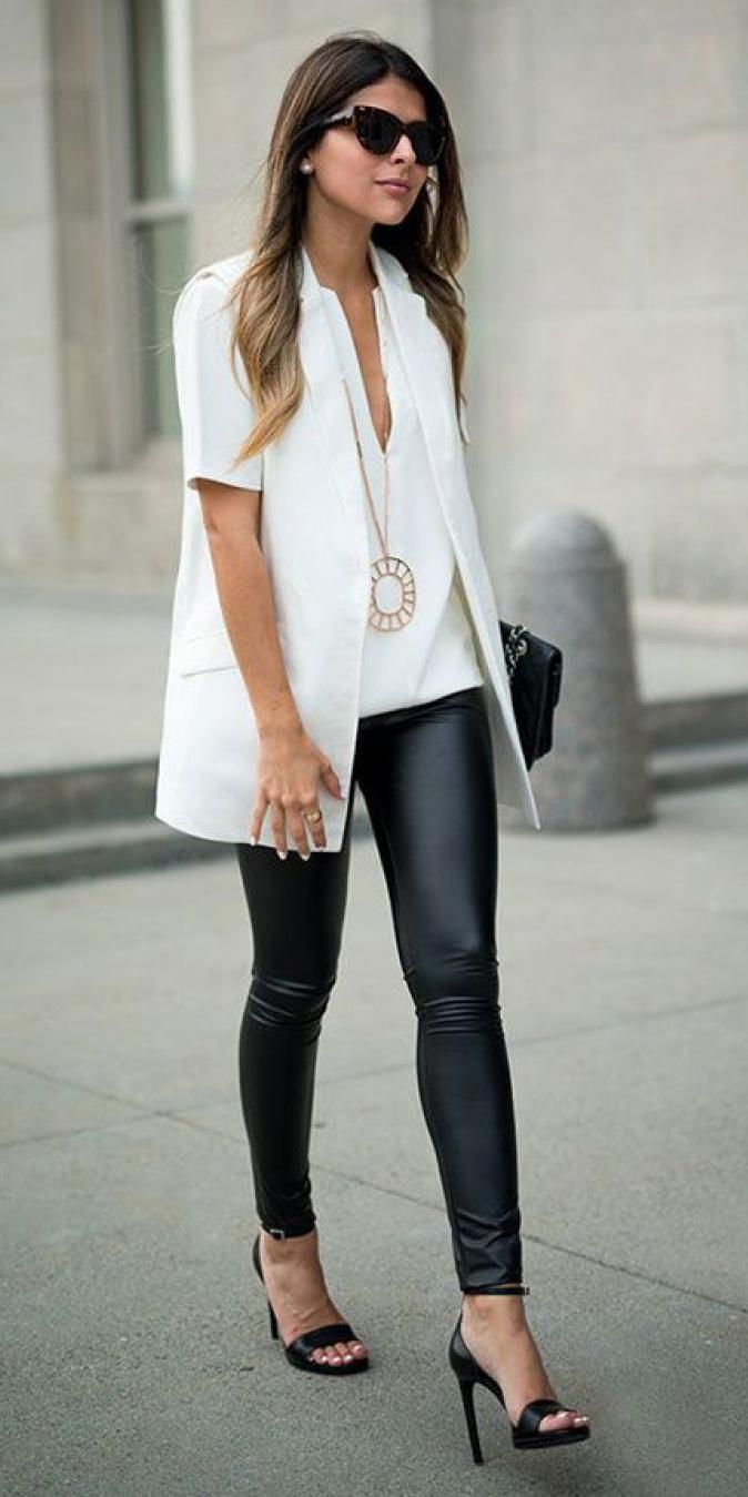 black-leggings-white-top-blouse-necklace-pend-hairr-sun-black-shoe-sandalh-white-vest-tailor-spring-summer-dinner.jpg
