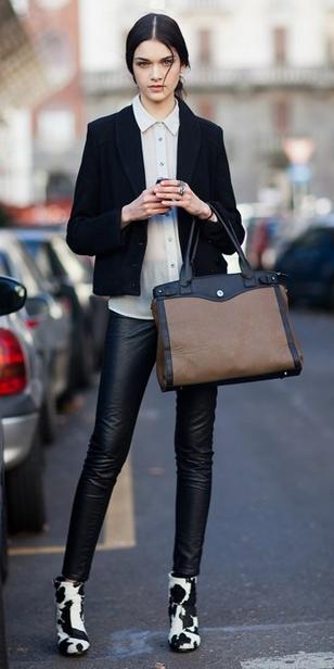black-leggings-white-top-black-jacket-blazer-pony-white-shoe-booties-wear-outfit-fashion-fall-winter-statement-office-brun-tan-bag-tote-work.jpg