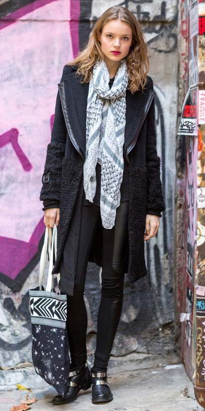 black-leggings-white-scarf-layer-black-jacket-coat-fall-winter-blonde-weekend.jpg