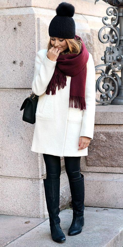 black-leggings-white-jacket-coat-howtowear-fashion-style-outfit-fall-winter-burgundy-scarf-black-shoe-boots-black-bag-beanie-hairr-lunch.jpg