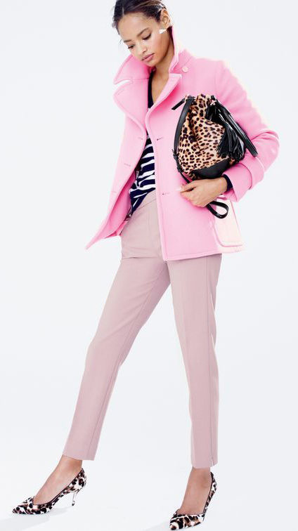 pink-light-slim-pants-tan-bag-leopard-print-brun-bun-brown-shoe-pumps-pink-light-jacket-coat-peacoat-fall-winter-lunch.jpg