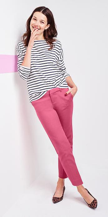 r-pink-magenta-slim-pants-black-tee-stripe-tan-shoe-pumps-howtowear-leopard-office-spring-summer-hairr-work.jpg