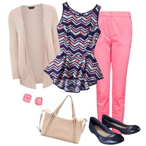 r-pink-magenta-slim-pants-blue-navy-top-peplum-print-tan-cardiganl-blue-shoe-flats-studs-tan-bag-howtowear-fashion-style-outfit-spring-summer-lunch.jpg