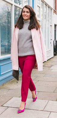 pink-magenta-slim-pants-grayl-sweater-turtleneck-pink-light-jacket-coat-magenta-shoe-pumps-howtowear-fall-winter-brun-dinner.jpg