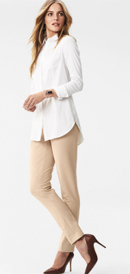 o-tan-slim-pants-white-collared-shirt-tunic-brown-shoe-pumps-blonde-whbm-howtowear-fashion-style-outfit-spring-summer-work.jpg