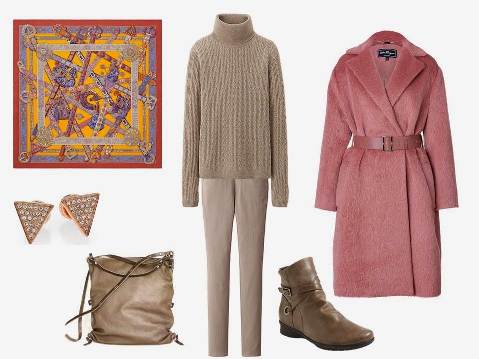 tan-slim-pants-brown-shoe-booties-tan-sweater-turtleneck-yellow-scarf-studs-pink-light-jacket-coat-fall-winter-lunch.jpg