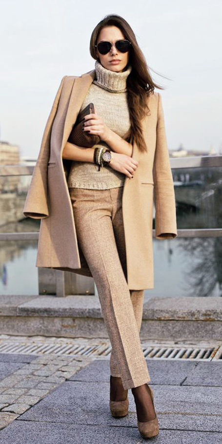o-tan-slim-pants-o-tan-sweater-tan-jacket-coat-bracelet-howtowear-fashion-style-outfit-fall-winter-mono-turtleneck-tweed-tights-tan-shoe-pumps-layer-sun-brun-work.jpg