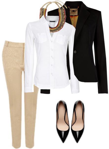 tan-slim-pants-white-collared-shirt-bib-necklace-black-shoe-pumps-black-jacket-blazer-fall-winter-lunch.jpg