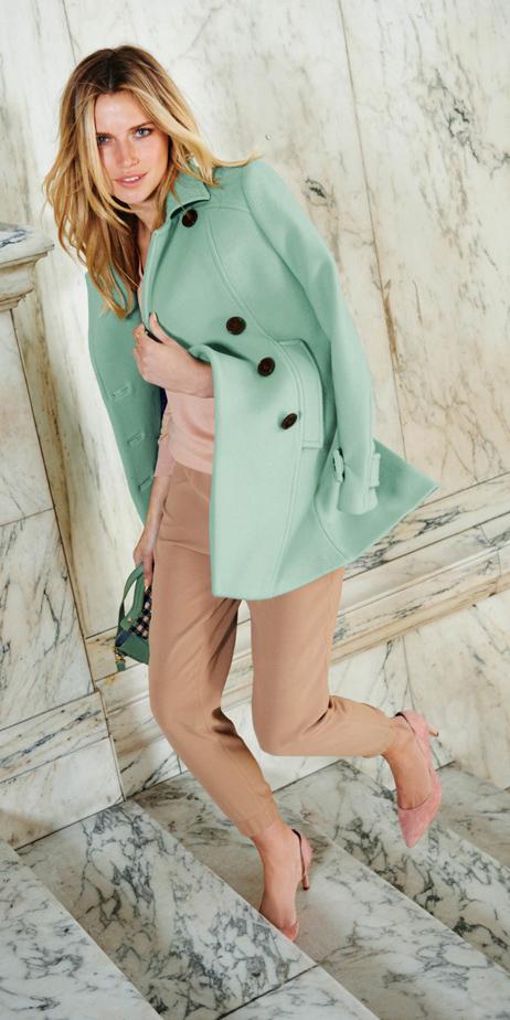 tan-slim-pants-peach-sweater-blonde-green-bag-pink-shoe-pumps-green-light-jacket-coat-peacoat-fall-winter-lunch.jpg
