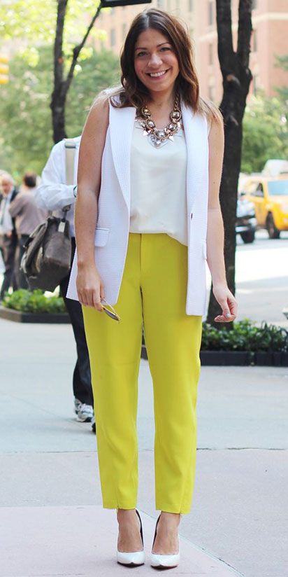 yellow-slim-pants-white-cami-white-vest-tailor-white-shoe-pumps-bib-necklace-fashion-style-outfit-spring-summer-hairr-lunch.jpg