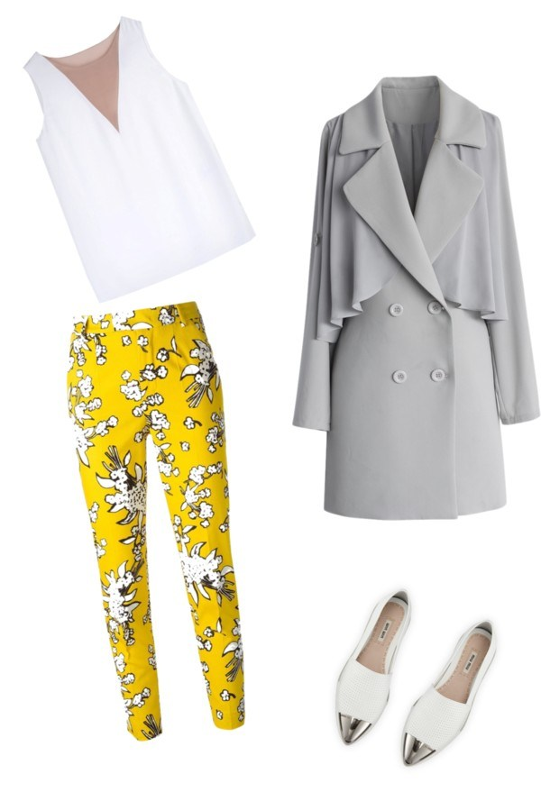 yellow-slim-pants-white-top-floral-print-grayl-jacket-coat-white-shoe-loafers-howtowear-fashion-style-outfit-spring-summer-work.jpg