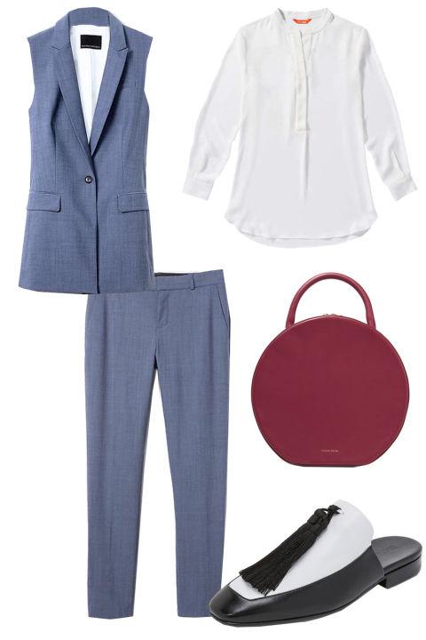 blue-med-slim-pants-white-top-blouse-blue-med-vest-tailor-burgundy-bag-black-shoe-flats-howtowear-fashion-style-outfit-spring-summer-work.jpg