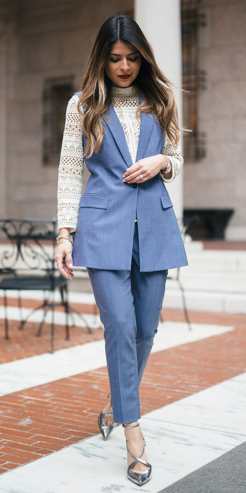 blue-med-slim-pants-white-top-lace-hairr-blue-med-vest-tailor-gray-shoe-pumps-metallic-silver-fall-winter-dinner.jpg