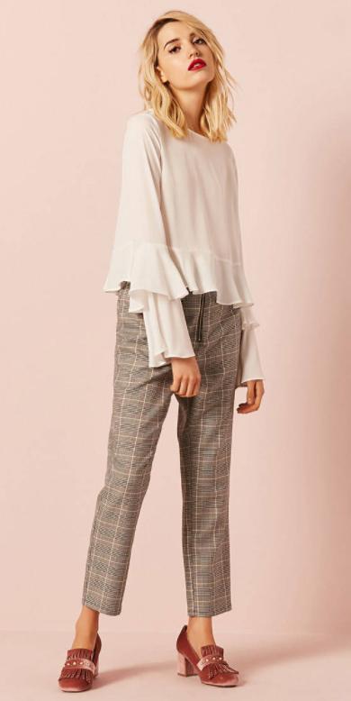 how-to-style-grayl-slim-pants-plaid-white-top-blouse-blonde-lob-magenta-shoe-pumps-velvet-fall-winter-fashion-lunch.jpg