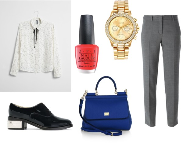grayl-slim-pants-white-top-blouse-howtowear-fashion-style-outfit-fall-winter-dot-watch-black-shoe-brogues-blue-bag-nail-office-work.jpg