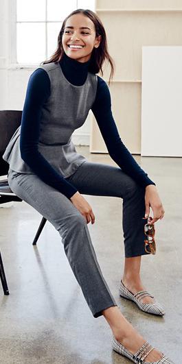 grayl-slim-pants-grayl-top-shell-peplum-blue-navy-sweater-gray-shoe-flats-jcrew-howtowear-turtleneck-fall-winter-brun-work.jpg