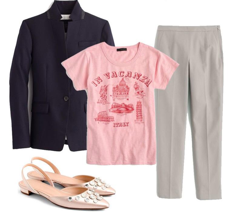 grayl-slim-pants-pink-light-graphic-tee-blue-navy-jacket-blazer-pink-shoe-flats-slingback-spring-summer-work.jpg