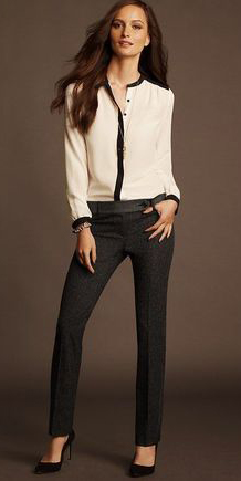 grayd-slim-pants-white-top-blouse-bracelet-howtowear-fashion-style-outfit-fall-winter-tuxedo-black-shoe-pumps-hairr-work.jpg
