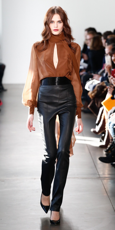 black-slim-pants-leather-camel-top-blouse-peasant-black-shoe-pumps-fall-winter-hairr-dinner.jpg