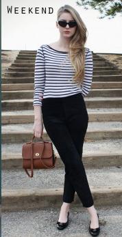 black-slim-pants-black-tee-stripe-cognac-bag-sun-black-shoe-flats-spring-summer-blonde-weekend.jpg
