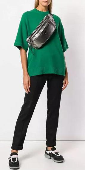 black-slim-pants-green-dark-sweater-gray-bag-fannypack-metallic-black-shoe-sneakers-fall-winter-weekend.jpg