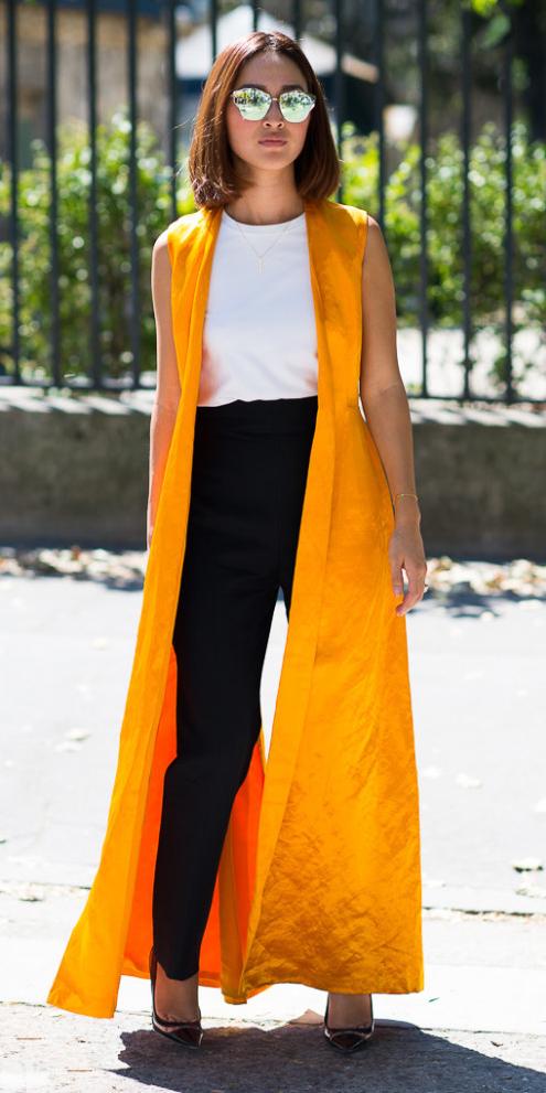 black-slim-pants-white-top-yellow-vest-tailor-maxi-brun-sun-black-shoe-pumps-spring-summer-lunch.jpg